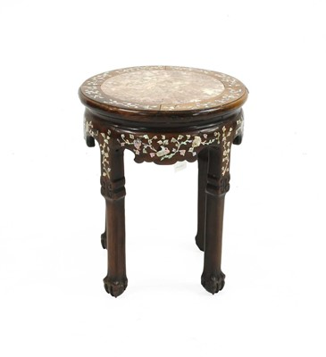 Lot 85 - A Chinese hardwood jardiniere stand