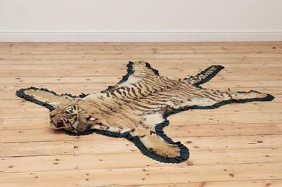 Lot 494 - A full head tiger skin rug