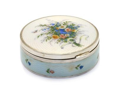Lot 23 - An Austrian enamelled silver trinket box