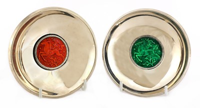 Lot 600 - A pair of Art Deco silver dishes