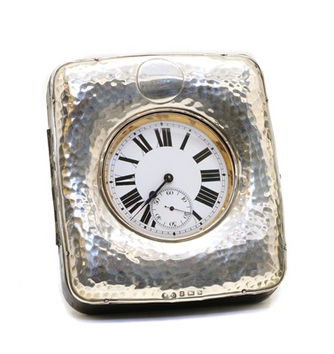 Lot 5 - A silver mounted watch case