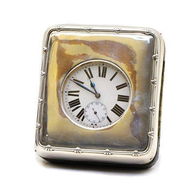 Lot 48 - A silver mounted watch case