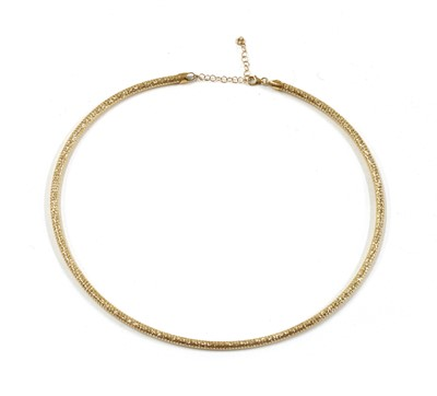 Lot 71 - A 9ct gold necklace