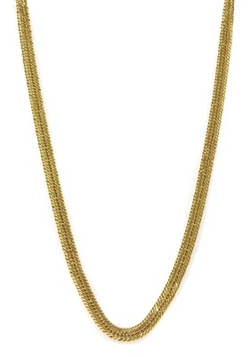 Lot 74 - A 9ct gold hollow triple curb link necklace
