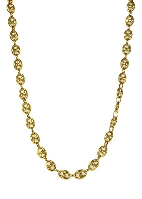 Lot 103 - A 9ct gold hollow anchor link chain