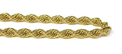 Lot 73 - A 9ct gold hollow rope link necklace