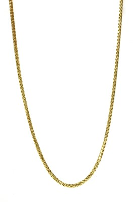 Lot 75 - A 9ct gold filed hollow spiga link chain