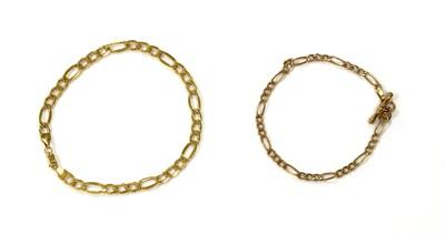 Lot 68 - A 9ct gold hollow figaro link bracelet
