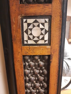 Lot 34 - An Aesthetic Movement Moorish mahogany mirror