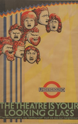 Lot A London Underground poster: 'The Theatre is your Looking Glass'