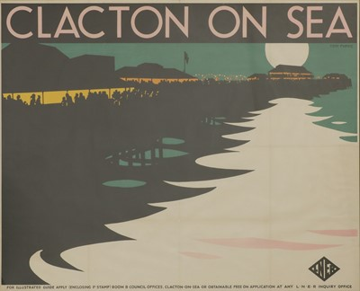 Lot An LNER travel poster: 'Clacton-on-Sea'