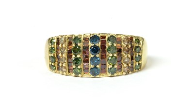 Lot 37 - A 9ct gold treated diamond tapered band ring
