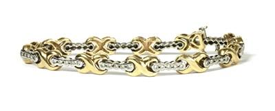 Lot 50 - A 9ct gold diamond bracelet