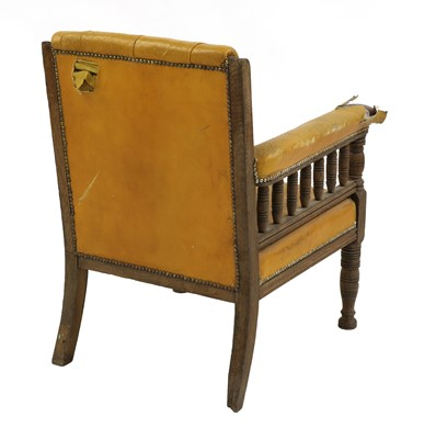 Lot 45 - An Aesthetic Movement library chair