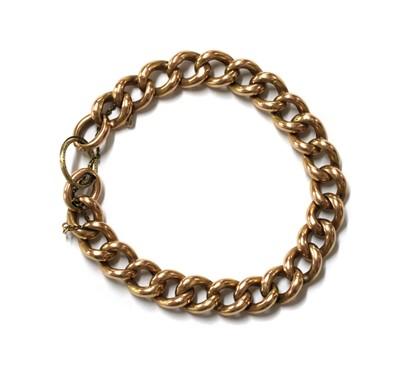 Lot 63 - A hollow gold curb link bracelet