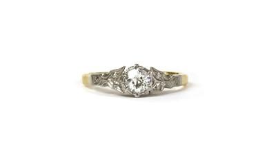 Lot 22 - A gold single stone diamond ring