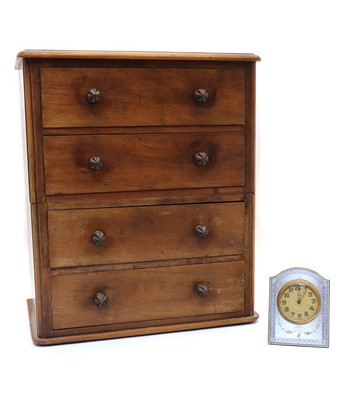 Lot 79 - A Victorian mahogany apprentice chest of four long drawers