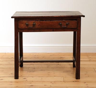 Lot 444 - A George III oak side table