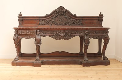 Lot 24 - A large mahogany serving table by Gillows of Lancaster