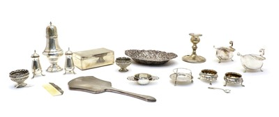 Lot 62 - A collection of silver items