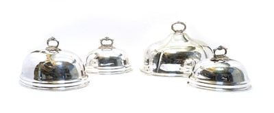 Lot 61 - A large silver-plated meat cover