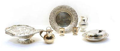 Lot 62A - A collection of silver and silver plated items