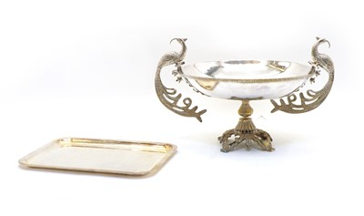 Lot 60 - A large silver plated footed centre bowl
