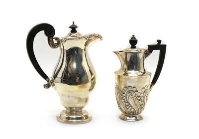 Lot 55 - An Edwardian silver hot water pot