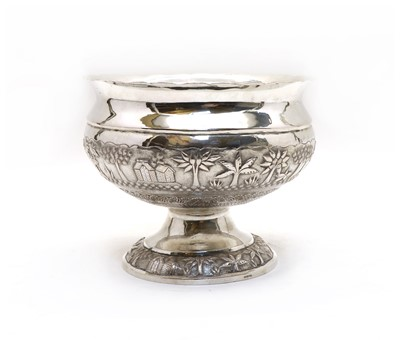 Lot 48 - An Indian silver pedestal bowl