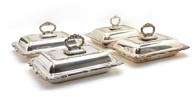 Lot 38 - Three silver plated tureens and covers