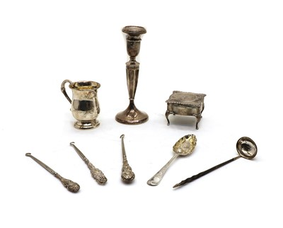 Lot 58 - A collection of silver items