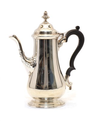 Lot 55 - A silver coffee pot