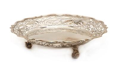 Lot 53 - A silver pierced basket