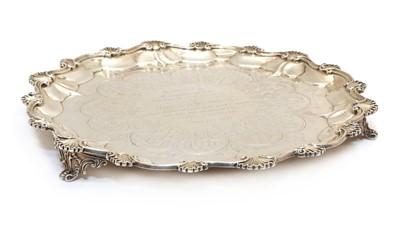Lot 70 - A Victorian silver salver