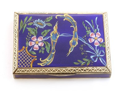 Lot 78 - A silver-gilt and enamelled box and cover