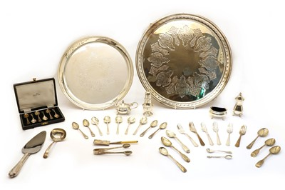 Lot 80 - Four silver condiment items