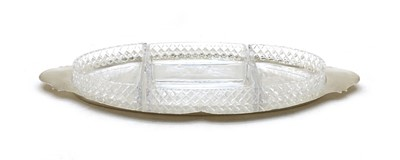 Lot 77 - A silver and glass serving dish