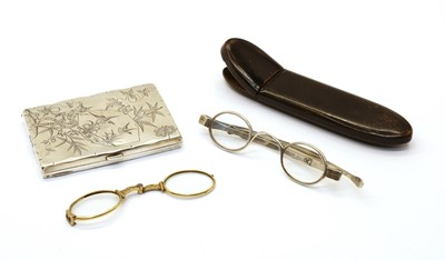 Lot 72 - A pair of silver spectacles