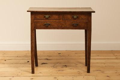 Lot 397 - A burr elm side table