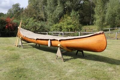 Lot 515 - A Canadian cedar strip canoe: 'Betsie'