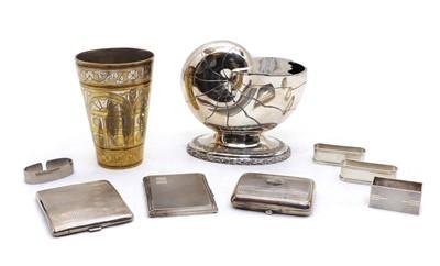 Lot 6 - Three silver cigarette cases