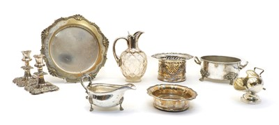 Lot 66 - A collection of silver plated items