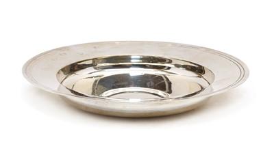 Lot 11 - A modern silver Armada dish