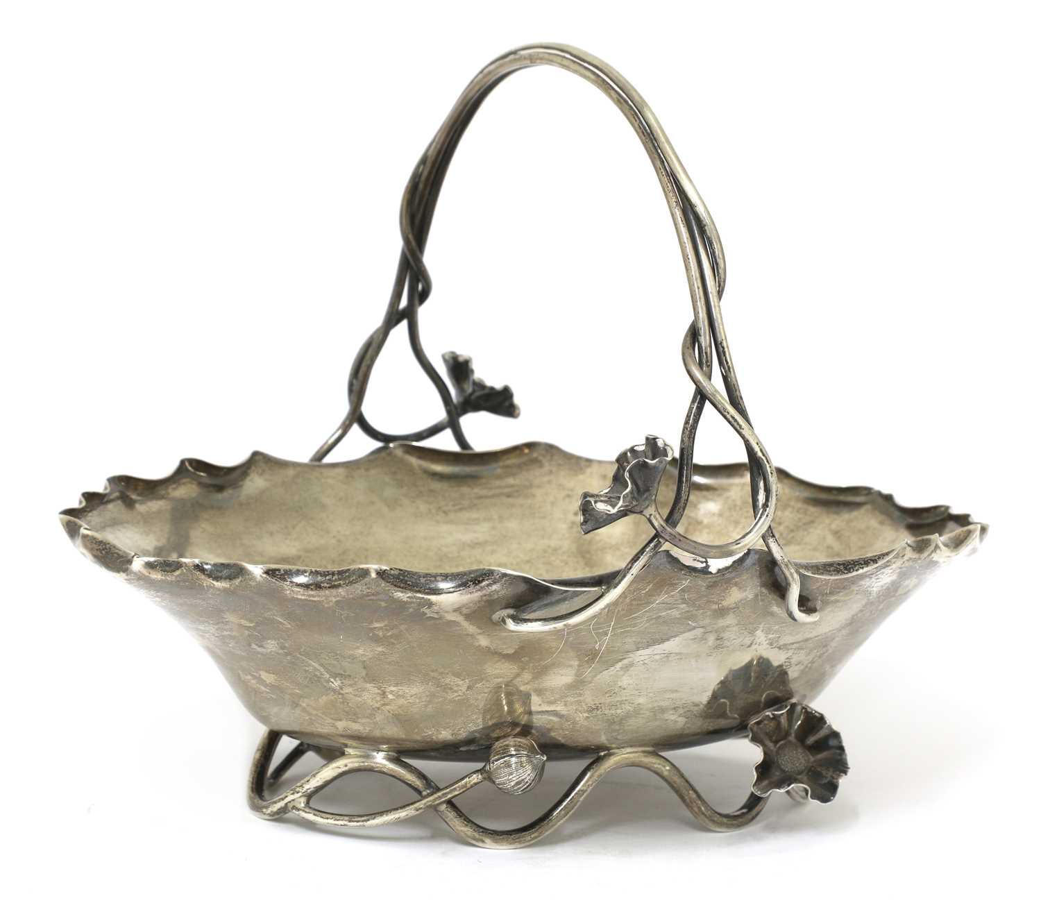 Lot 46 - An Aesthetic Movement silver basket