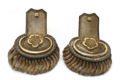 Lot 25 - A pair of 19th Century epaulettes
