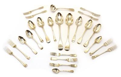 Lot 29 - A collection of silver flatware