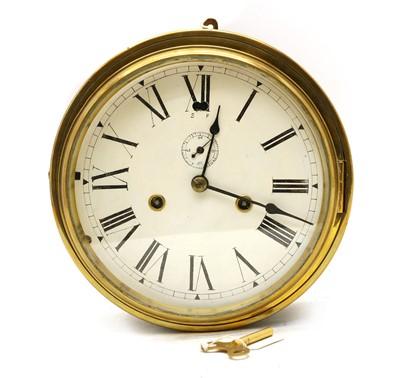 Lot 64 - A New Haven ship's bulkhead clock
