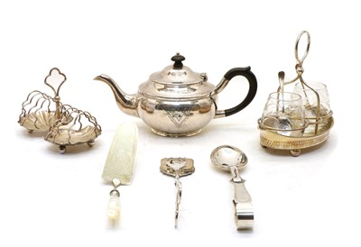 Lot 80 - Silver and silver plated items