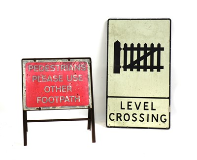 Lot 51A - Two metal signs
