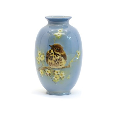 Lot 80 - A Royal Doulton Titanian ware vase